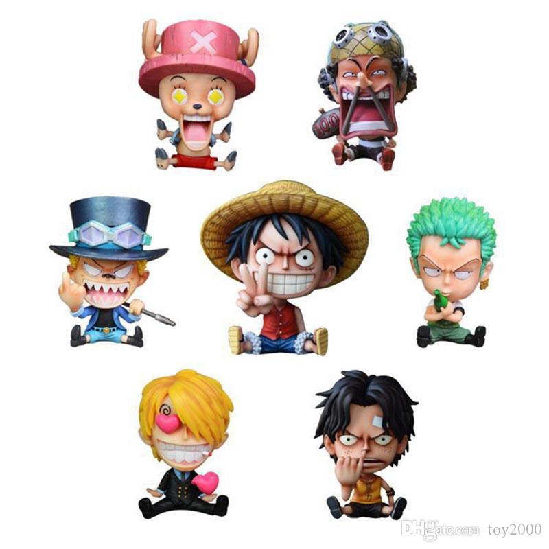 10cm One Piece DX Luffy Ace Brotherhood Anime Cartoon 2 Years Later PVC Action Figure Toys Cartoon Battle Ver Model Dolls