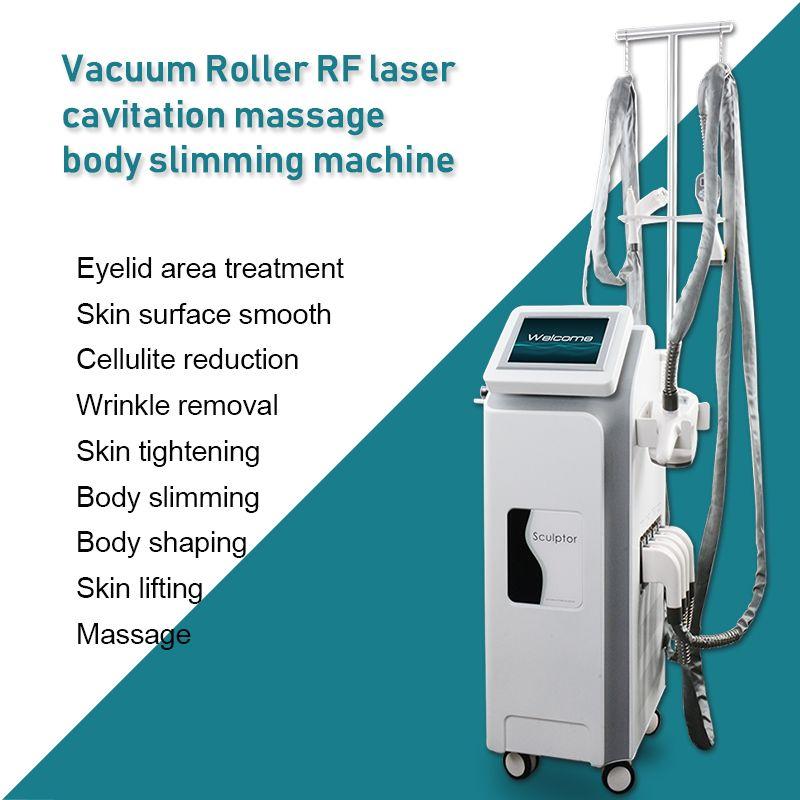 2020 V-shape body shaping vacuum cavitation weight loss machine vacuum rf slimming 5 handles ve shape CE