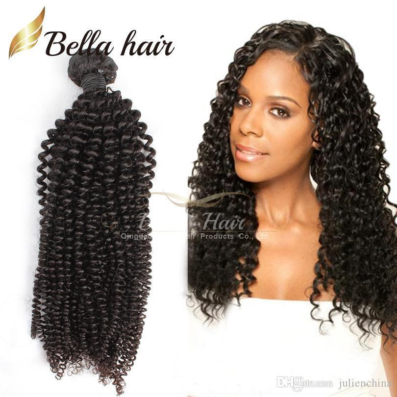 Bella Hair? 8A Factory Wholesale Brazilian Hair 8A Kinky Curl Indian Hair Bundles Malaysian Cambodian Peruvian Virgin Hair Free Shipping