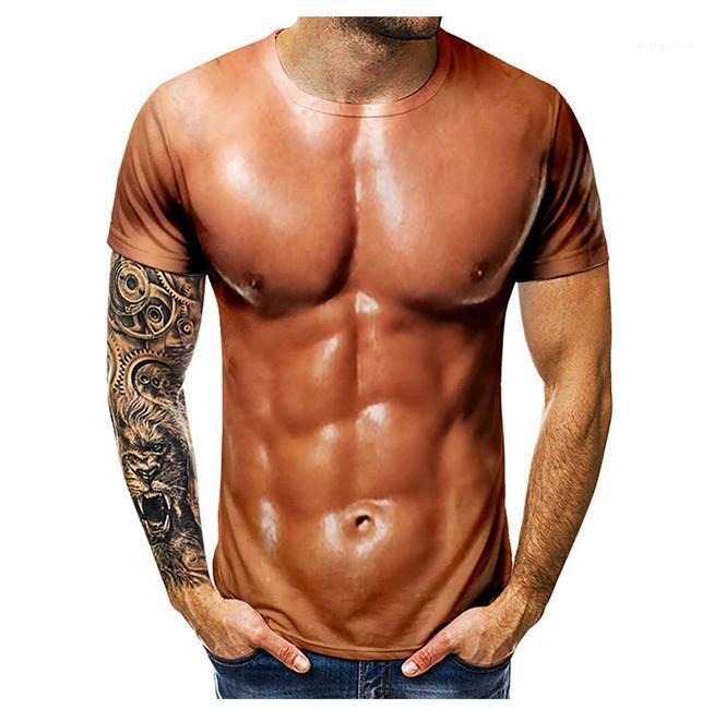 Shirt Muscle Homme refroidissent impression 3D Hommes T-shirt ras du cou desserrées Lovers Chemises unisexe Respirant