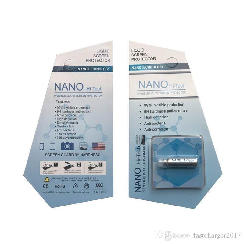 1 ml Sıvı Nano Tech Ekran Koruyucu 3D Kavisli Kenar Anti Scratch Temperli Cam Film iphone 12 11x7 8 11 Samsung S8 S10 S20