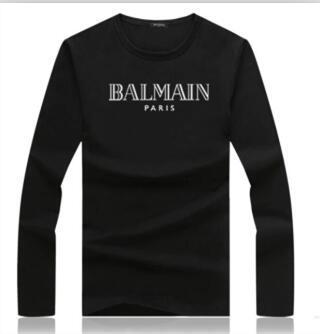 Cuello redondo manga corta T Piedras Hip Hop de los hombres camisetas de la manera Brújula Impreso camiseta hombres camiseta B6458Balmain