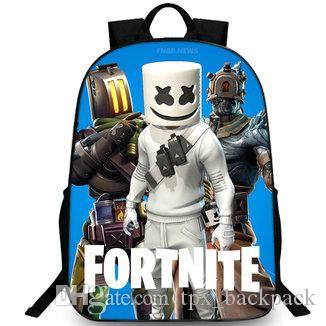 تحدي ظهره موسيقى Marshmello day pack نمط حقيبة مدرسية على شكل DJ صورة حقيبة الظهر رياضة مدرسية daypack day