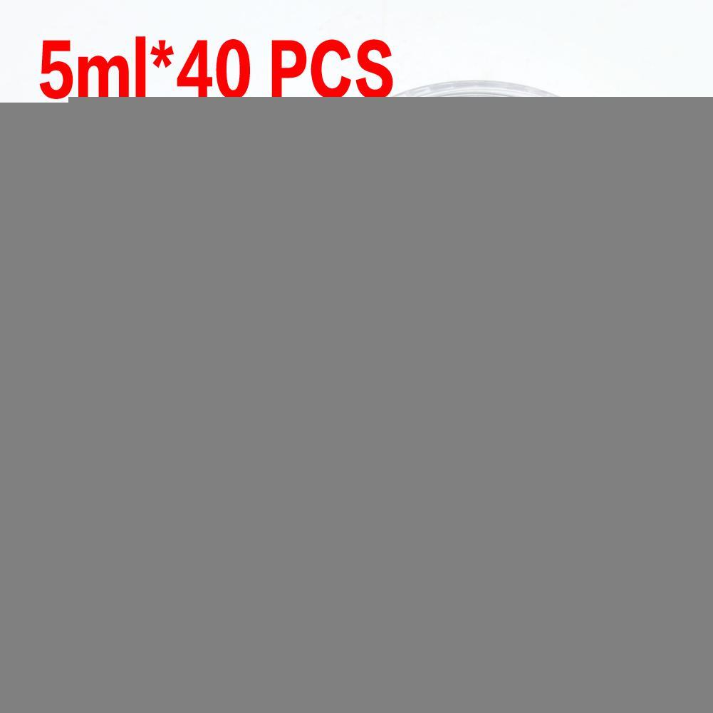 حار بيع + افضل سعر شحن مجاني 40 جهاز كمبيوتر 5ML التجميل فارغة جرة وعاء ظلال ماكياج الوجه كريم بلسم الشفاه الحاويات ESS022