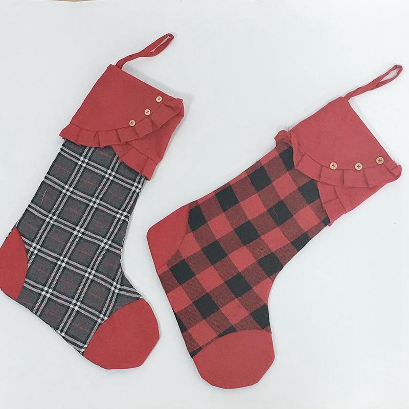 Accessori per la casa di Santa Canvas Bag di Natale Calze di alta qualità per lo stoccaggio Candy Apple calza natale partito Festival