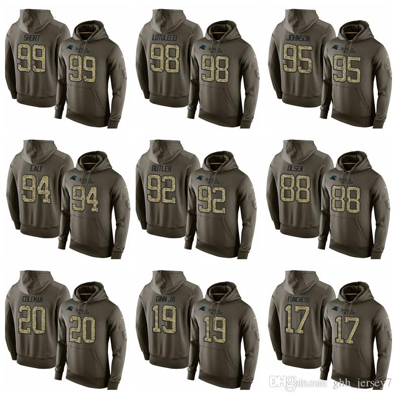 quality design a2649 3f361 2019 Men,Women,Youth 10 Brown 13 Benjamin 17 Funchess 19 Ginn JR 20 Coleman  Carolina Panthers Army Green Salute Hoodies From Wgtrade3, &Price; | ...
