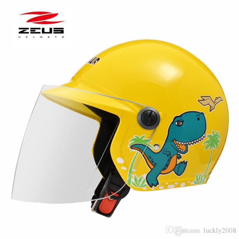 new dinosaur childs electric motorcycle kinds helmet , ZEUS 201 children scooter motorbiake motorcross helmets red pink blue silver