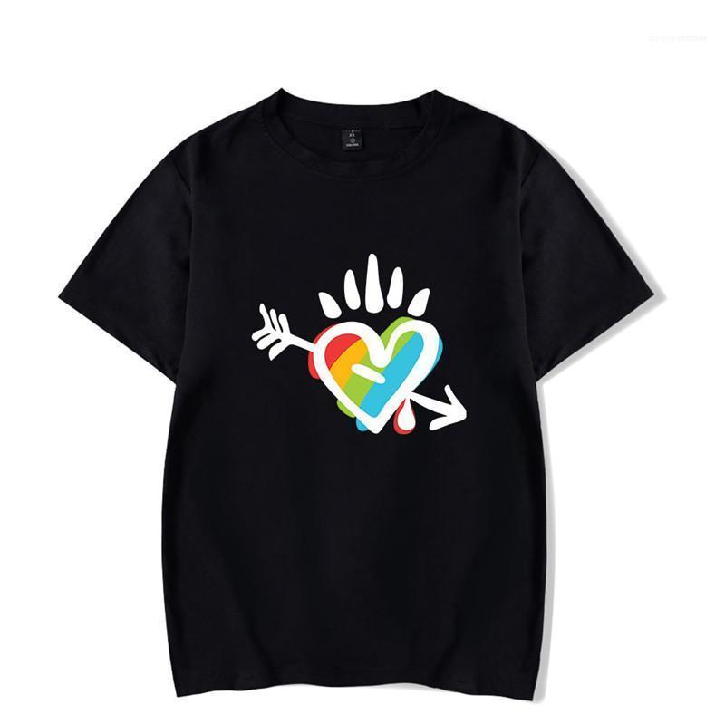 مصمم رجالي ملابس للسيدات LGBT مطبوعة تي شيرت بأكمام قصيرة الصيف أزياء جولة الرقبة فضفاض عارضة تيز