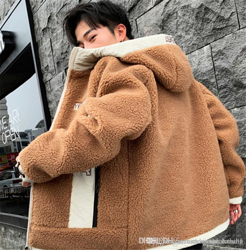 Mens Designer Jacket Fashion Letter Teenager Lambs Wool Winter Jacket Long Sleeve Plus Size Mens Coats
