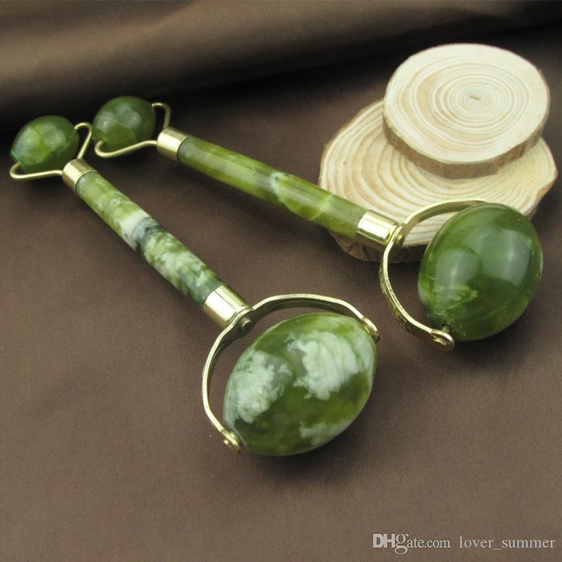 Großhandel Natürliche Gesichtsbehandlung Massage-Werkzeug Jade Roller Gesicht Thin Massage Entspannung Werkzeug Dropship durch DHL