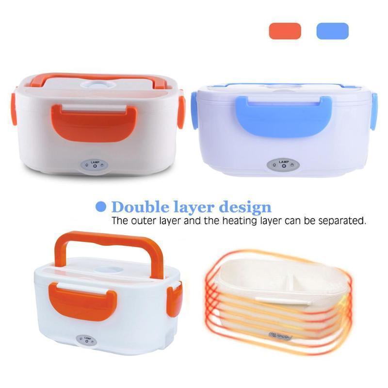 Tragbare Lunch Box Hitze Erhaltung PTC elektrische Heizung Lunchbox Bento Nahrungsmittelbehälter-Wärmer Leak-Proof Lunchbox EU-Stecker Y200429