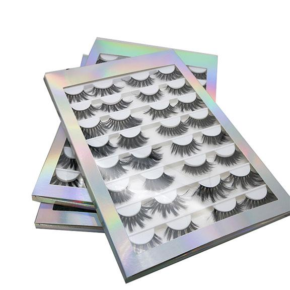 16 Pairs 25mm False Eyelash book 3D 5D 8D Faux Mink Eyelashes Handmade Fluffy Eye Lashes Real Mink Lashes Makeup Thick Fake Eyelashes