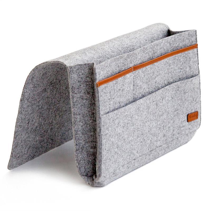 1 Piece Storage Bag Pockets Headboard Hanging Holder Organizer Non Woven Fabric Christmas Home Bed Storage Bag