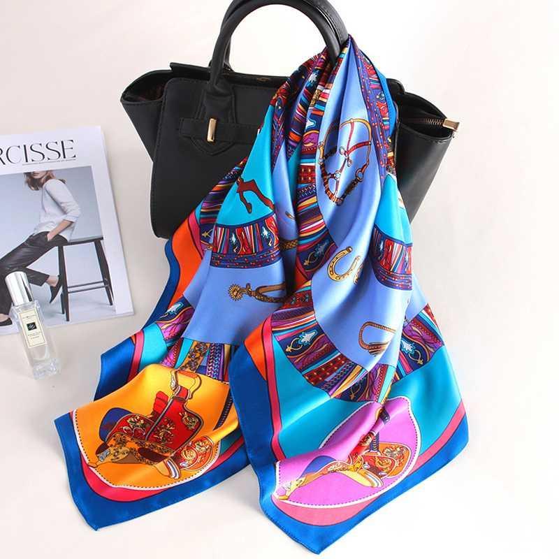Chinois 100% Pure Foulards en soie carré 90x90 Echarpes Foulard Bandana Foulard et Wraps Châle Femme Hijabs Foulard en soie