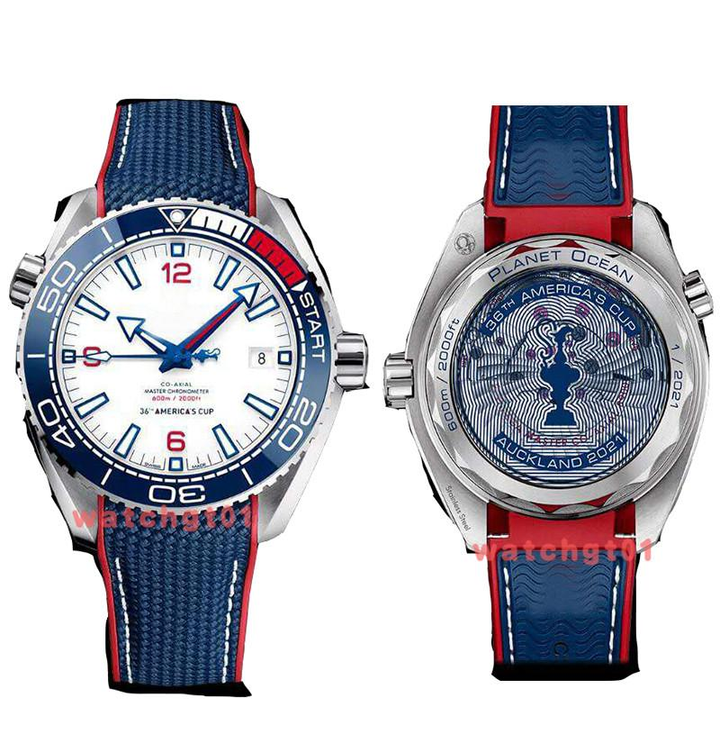 Newest Mens Watch Honors Ceramic Bezel 36th AMERICA'S CUP World's Oldest Limited Skyfall Men Diver 600M Watches Rubber Watch Wristwatches