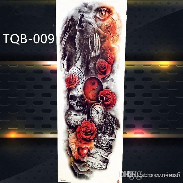 48 * 17cm tatouage temporaire modèle différent Decal personnalité étanche bras Art Autocollants