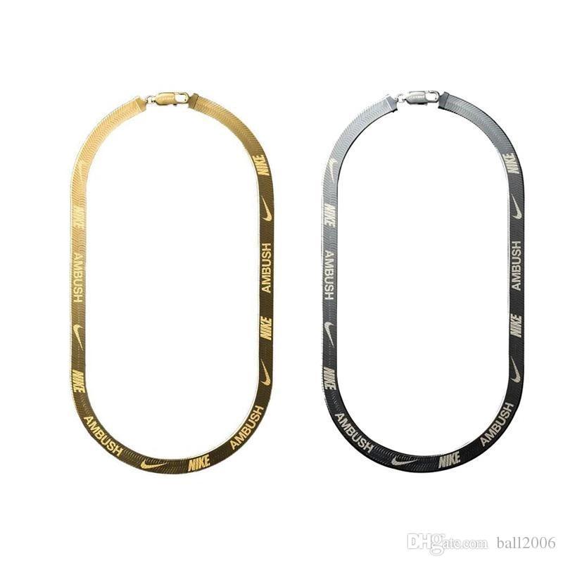AMBUSH X hook HERRINGBONE LOGO Metal Chain necklace Bracelet belts Men Women Hip Hop Outdoor Street Accessories Festival Gift free ship