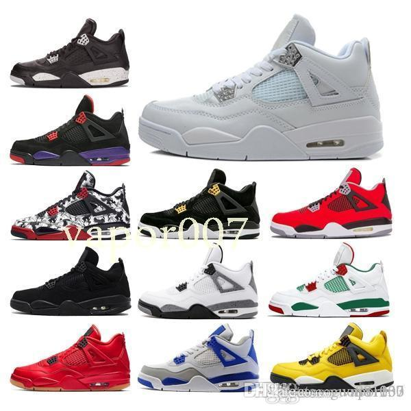 Top Quality 2019 4 OG Mens Basketball Shoes game Designer 4s baskets Trainers travis scotts fashion Sneakers chaussures