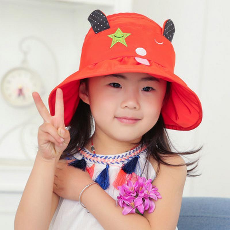 Cartoon-Hut für Kinder Leder Bucket Hat Dunkler Obsidian Cappelli Da Secchiello Per Bambini Chameleon Cartoon Buckethats für Kleinkind hURtd