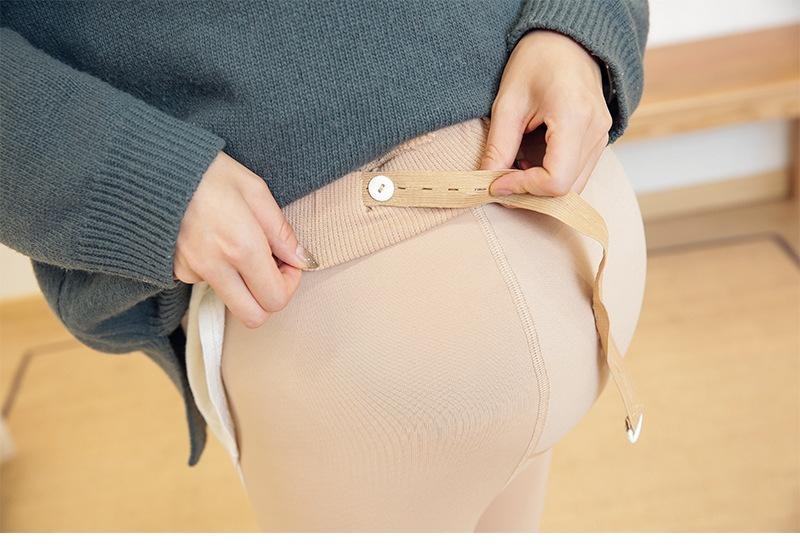 Maternity Clothes Winter Solid Color Adjustable Leggings For Pregnant Women Thick All Match Pregnancy Trousers