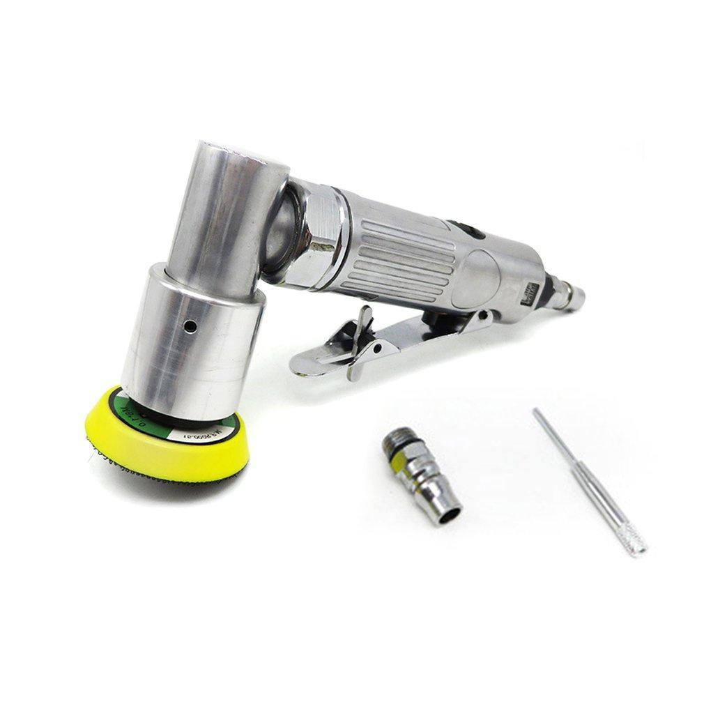 """15000 RPM Mini ángulo Aire Sander amoladora pulidora neumática Elecentric Pulido Rectificadora con 2"""" / 50 mm Lijado Pad"""