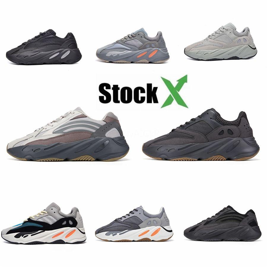 2020 Yeni Kanye West Köpük Runner 700 V3 Sneakers Mens Popüler Kanye West 700V3 ayakkabı erkekler beyaz Bej İskelet Erkek Işık Eğitmenler # QA262