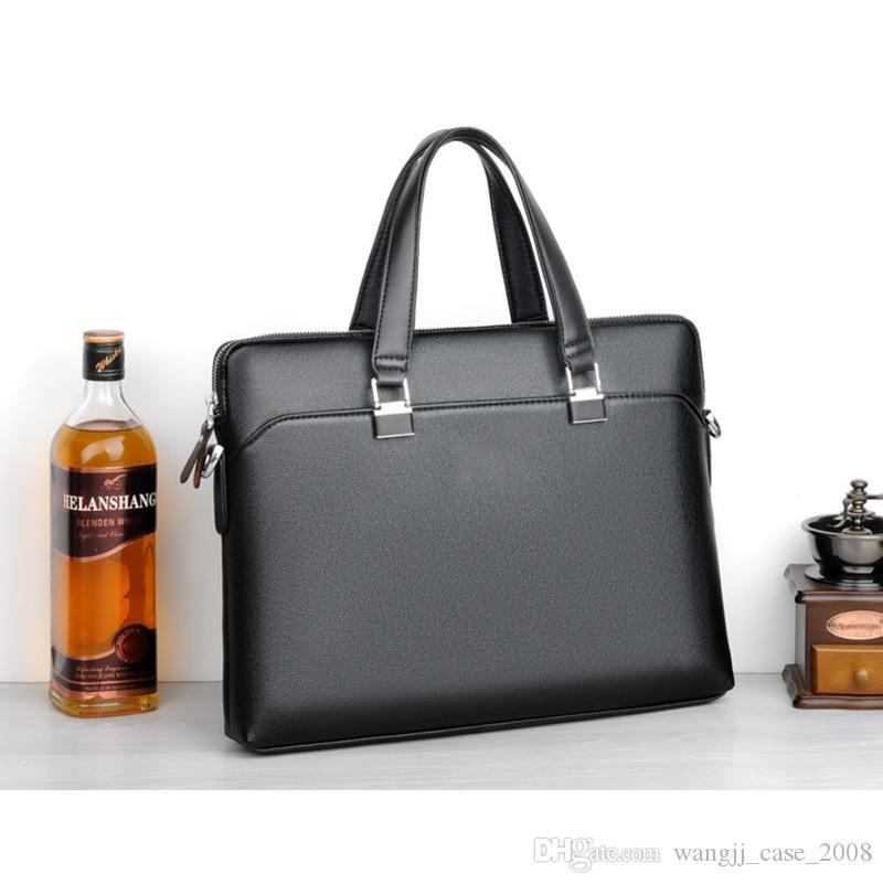 15.6 inch Men Briefcases Lawyer Leather Handbag Vintage Laptop Briefcase Male Computer Shoulder Bags Casual Men Office Portable Bag fashion