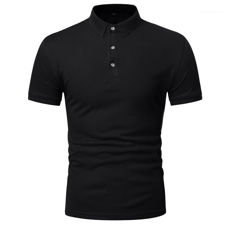 Les vêtements pour hommes Hommes d'été Couleur unie Polo Casual Slim Fit manches courtes cou Designer Lapel Polos