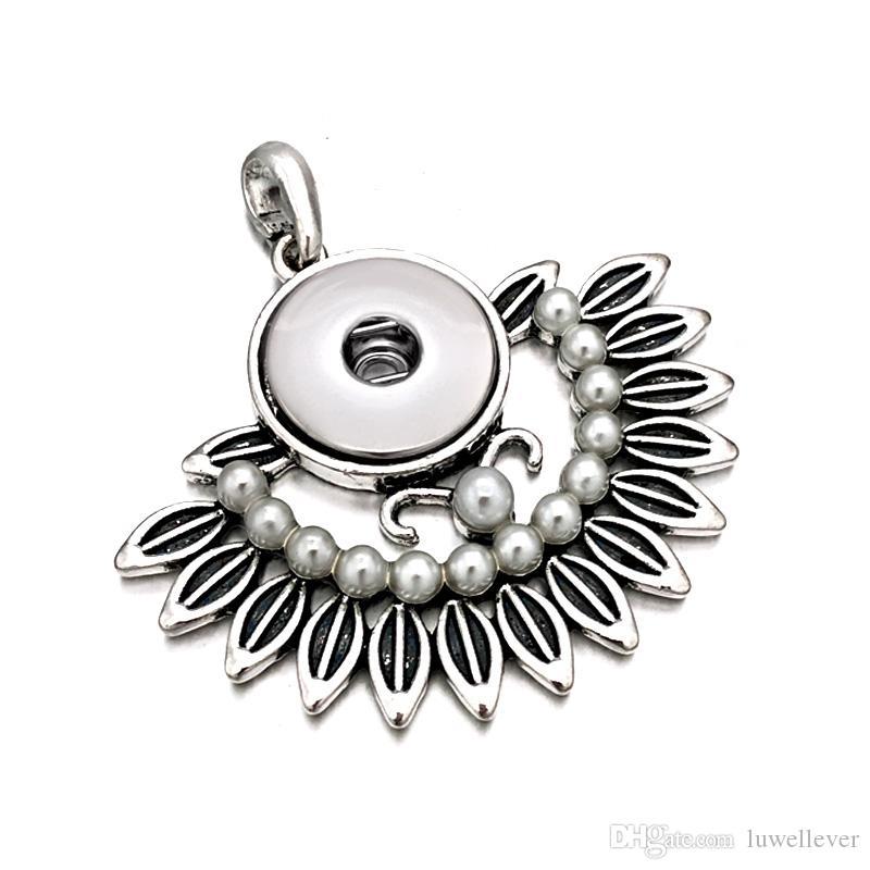 Luwellever Сменная цветок дерево Имбирь ожерелье 001 Fit 18mm Snap кнопки ожерелье шарма ювелирных изделий для женщин Подарок