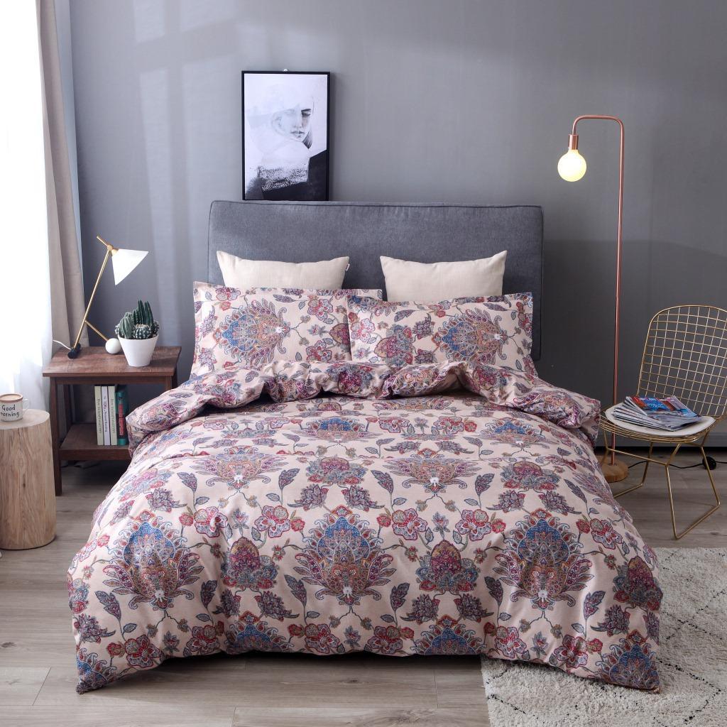 fiore Boemia pittura pastorale copripiumino set di biancheria da letto in cotone set casa texitle biancheria da letto consolatore regina king size