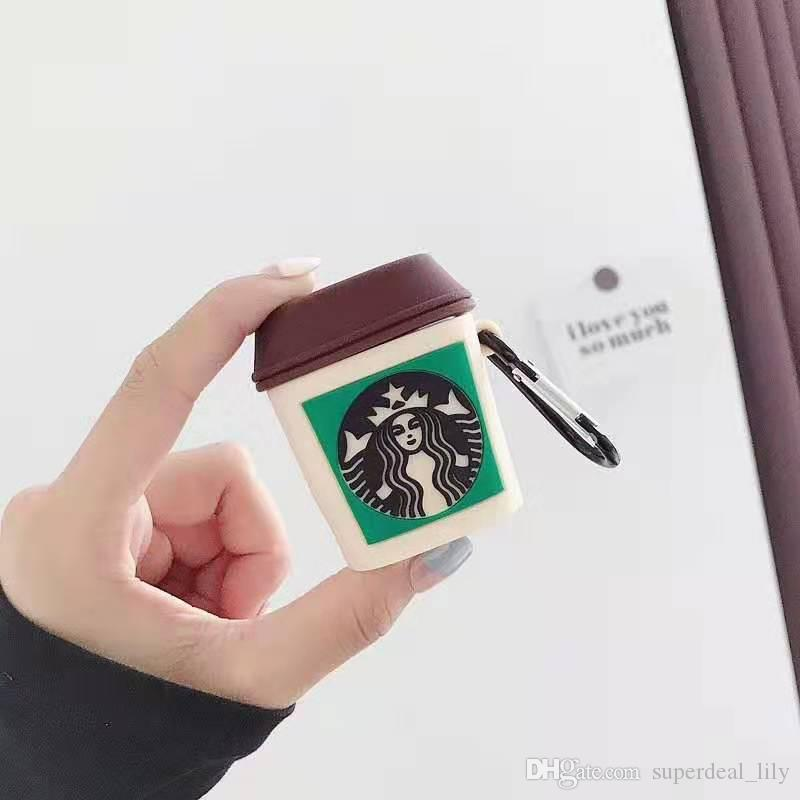2020 For Apple Airpods Case 3d Starbucks Cup Silicone Case Cover