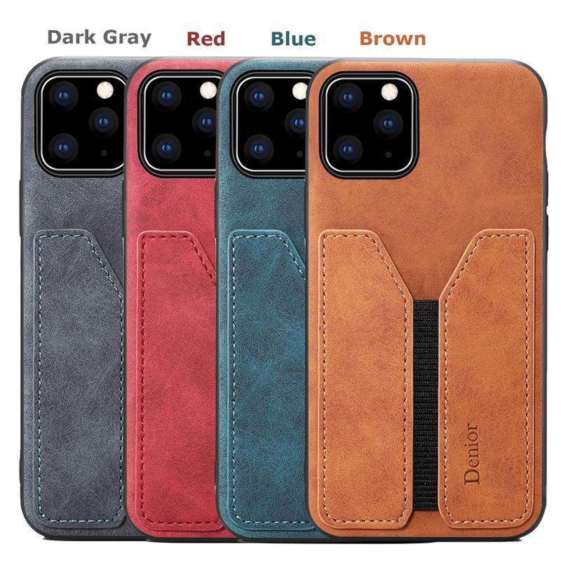 Cassa di carta del supporto del telefono per Apple iPhone 11 Pro cuoio di lusso Max telaio della copertura del silicone antidetonante Moda ins