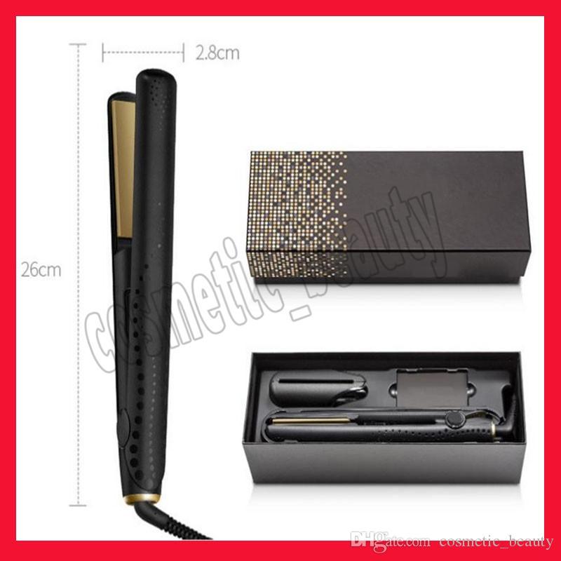 .V الذهب ماكس فرد الشعر الفنية الكلاسيكية الطراز سريع أداة الشعر استقامة الحديد تصفيف الشعر مع صندوق البيع بالتجزئة