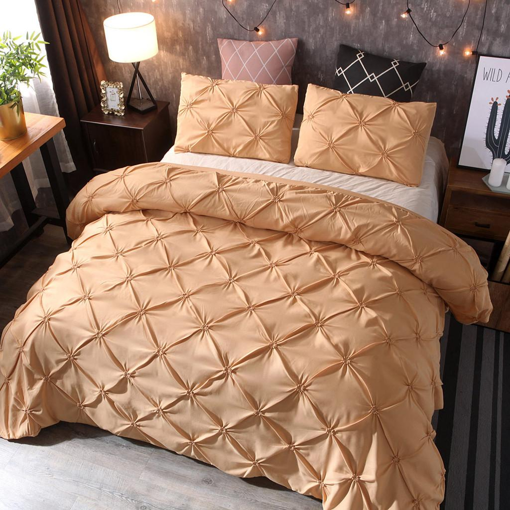 New Bedding Quilt Cover And Pillowcase 3D Printed marble Headfull Size Three-Pie Gold Modern Duvet Cover Set Dot MAR15