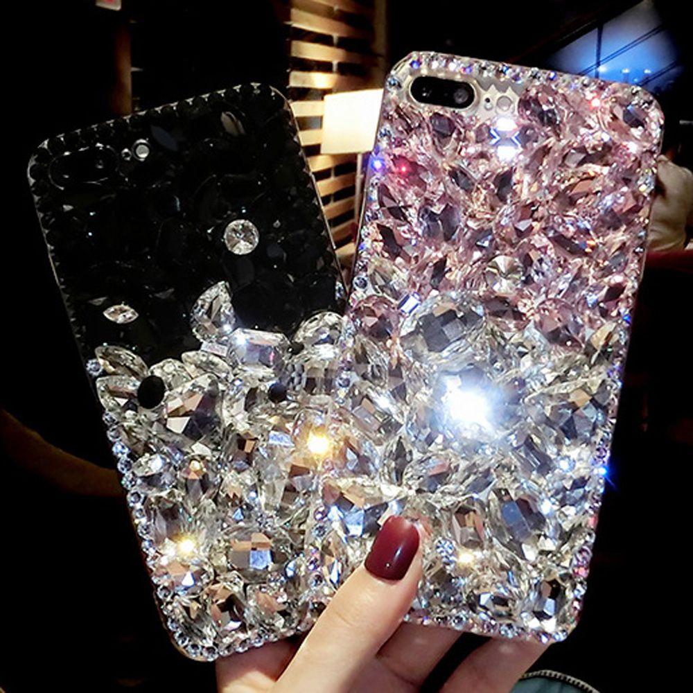 Vente en gros Strass Diamant Bling Couverture de téléphone Bling coque pour Samsung Galaxy S9 / S8 Plus S7 / S6 Edge Plus S5 S4 Note 9 8 5 4