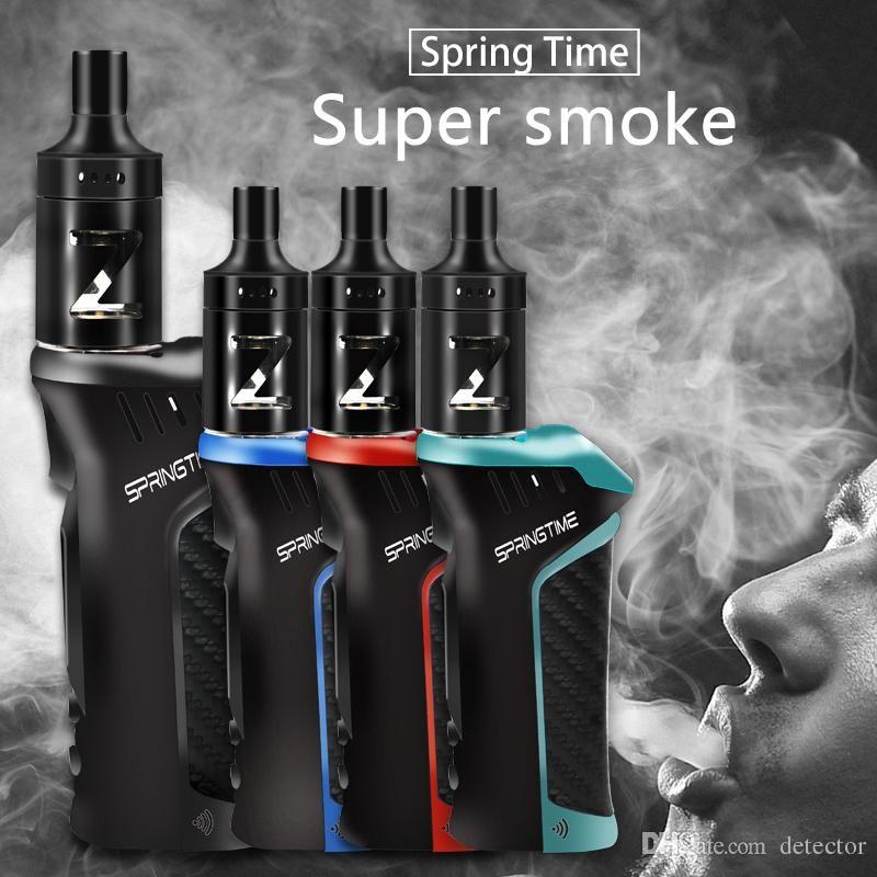 E-cigarro cigarros Spring Time Poder 20W-100W 18650mAh Eletrônico Vape Pen Box Mod Kit Hookah Vaper 0.5ohm 2,5 ml Atomizador