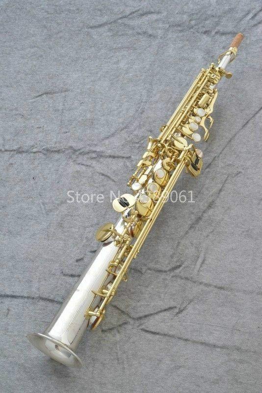 YANAGISAWA S9930 Prima Düz Boru Soprano B Düz Saksafon Gümüş Kaplama Vücut Altın Lake Anahtar B (B) Pirinç Müzik Aletleri ile kılıf