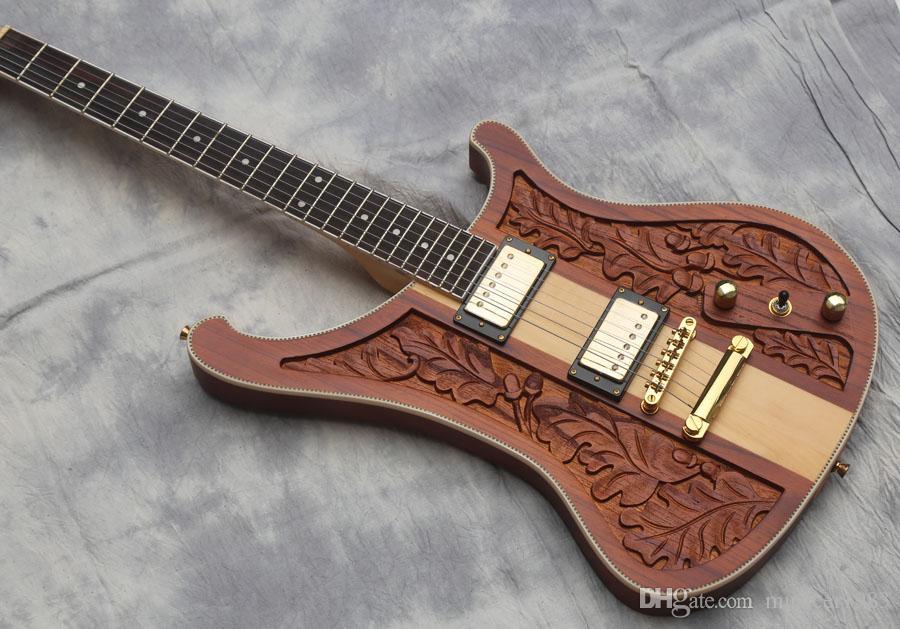 Haute qualité guitare électrique, du cou à travers des guitares sculptées du corps, le corps de noix