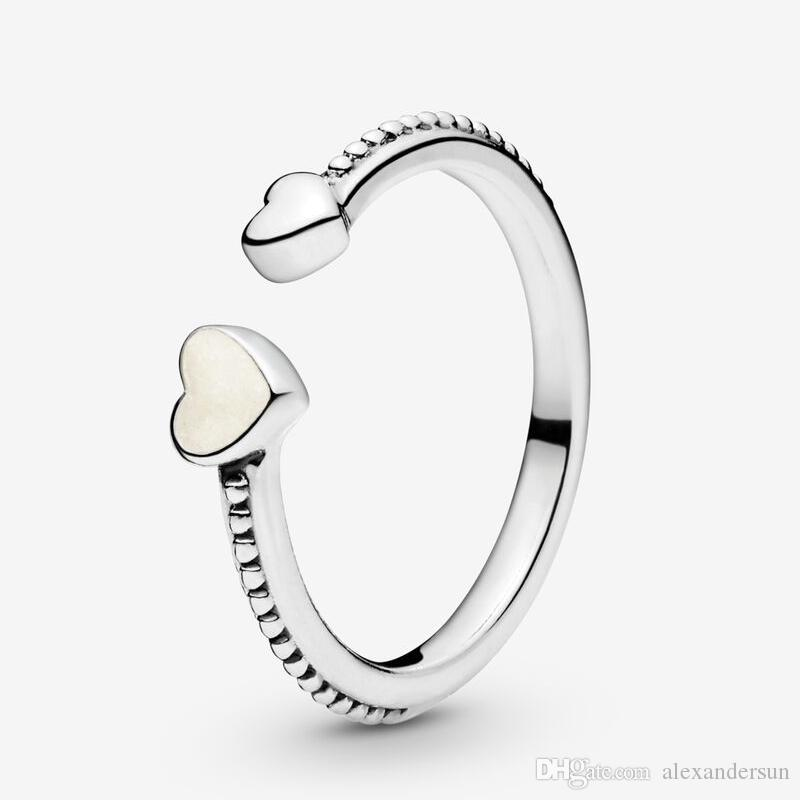 Genuine Sterling Silver Bead Style Heart Baby Ring
