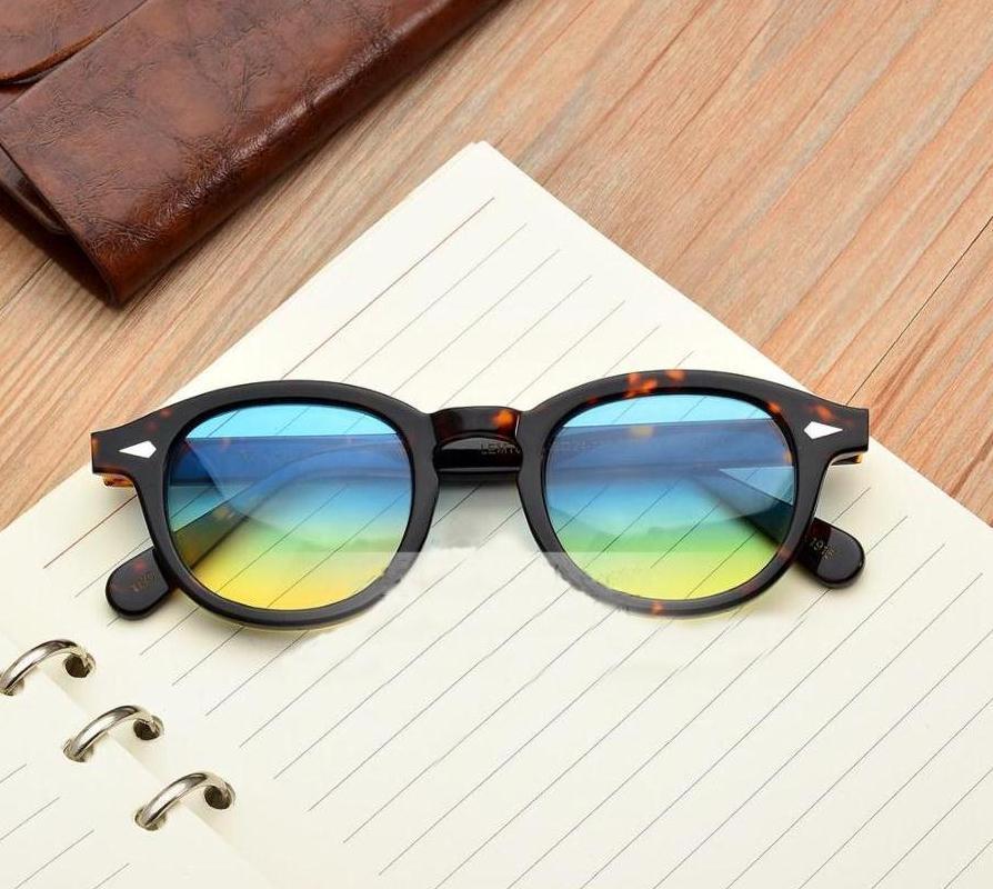 تصميم العلامة التجارية 3 الحجم الإطار 20 اللون عدسة النظارات الشمسية Lemtosh جوني ديب نظارات أعلى جودة MOSCOT نظارات مع السهم برشام 1915 مع حالة