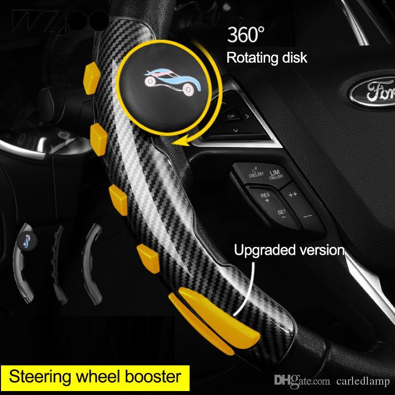 Blue KIMISS Car Steering Wheel Knob Handle Ball Universal Steering Wheel Booster Black blue
