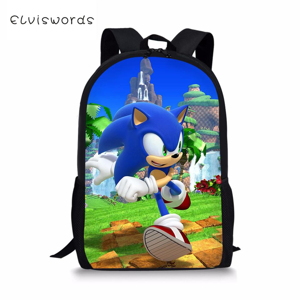 The Hedgehog Sonic Girls School Backpack Sets Children Students Book Bags Lot