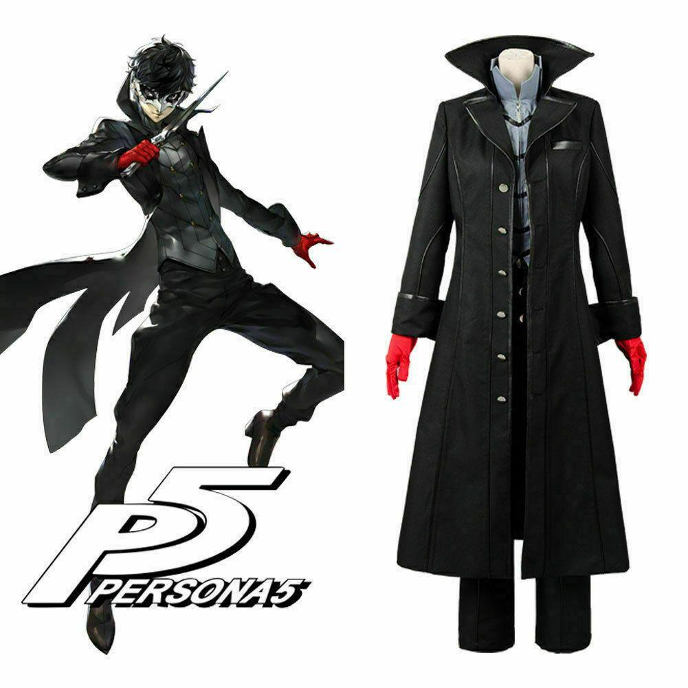 Persona 5 Joker Protagonist Outfit Cosplay Costume Coat Suit Jacket