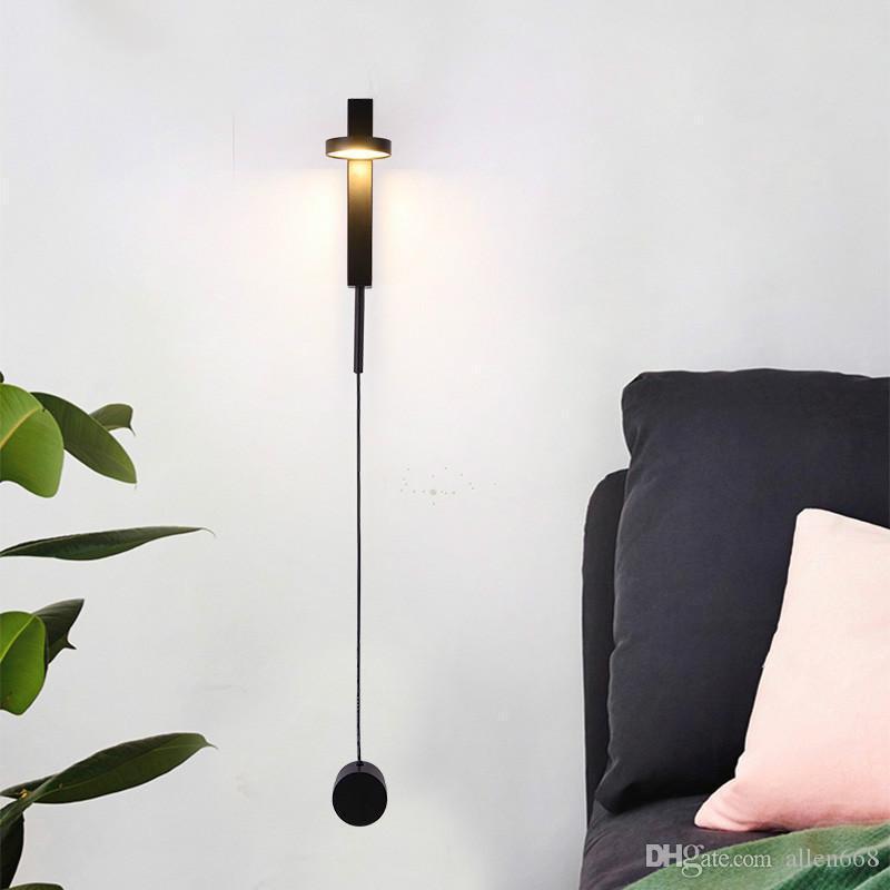 Moderna lampada da parete camera da letto soggiorno navata illuminazione domestica corridoio comodino creativo lampada da parete sconce