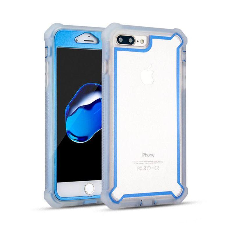 Para iphone 11 6.5 2019 6.1 Híbrido Combo 3 em 1 Defender Limpar Painel Traseiro Capa Protetora de Telefone Capa A