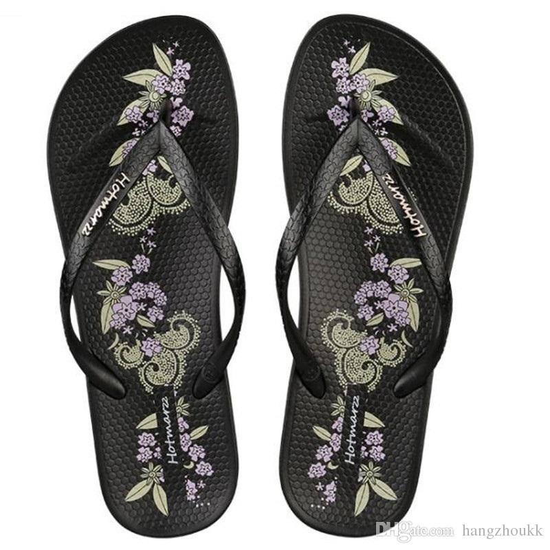 Новые Женская обувь Тапочки Модный дизайнер Печать Пляжные шлепанцы Женские летние сандалии на плоской подошве с ремешком для душа