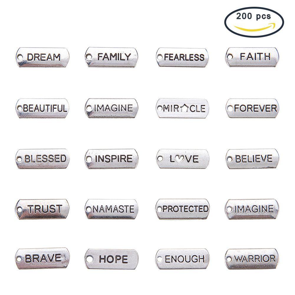 kelimeleri tezahürat Sanat ve el sanatları Çoklu stilleri kolye parça kombinasyonu DIY yaratıcı el yapımı malzemeler BE011 dikdörtgen