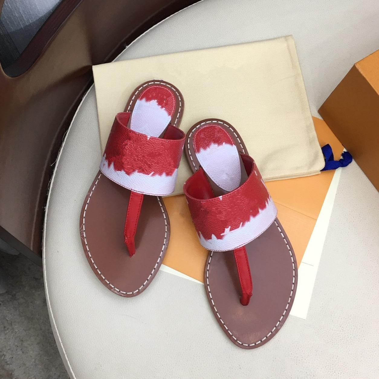 New Colorful Patent Canvas Leather Flat Thong Mule Slides Ladies Sandals Red Pink Blue Size 34 To 42