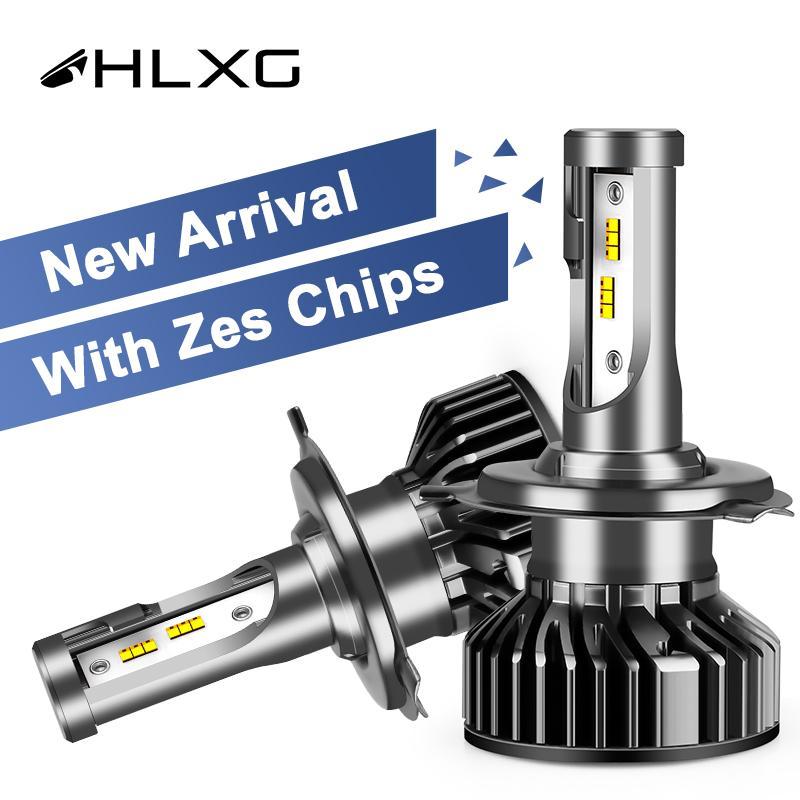 H7 H4 LED ZES chip de luz super brillante Automible H8 H9 9006HB4 9005 HB3 llevó la linterna lampada 12V H11 luce blub 12000lm HLXG