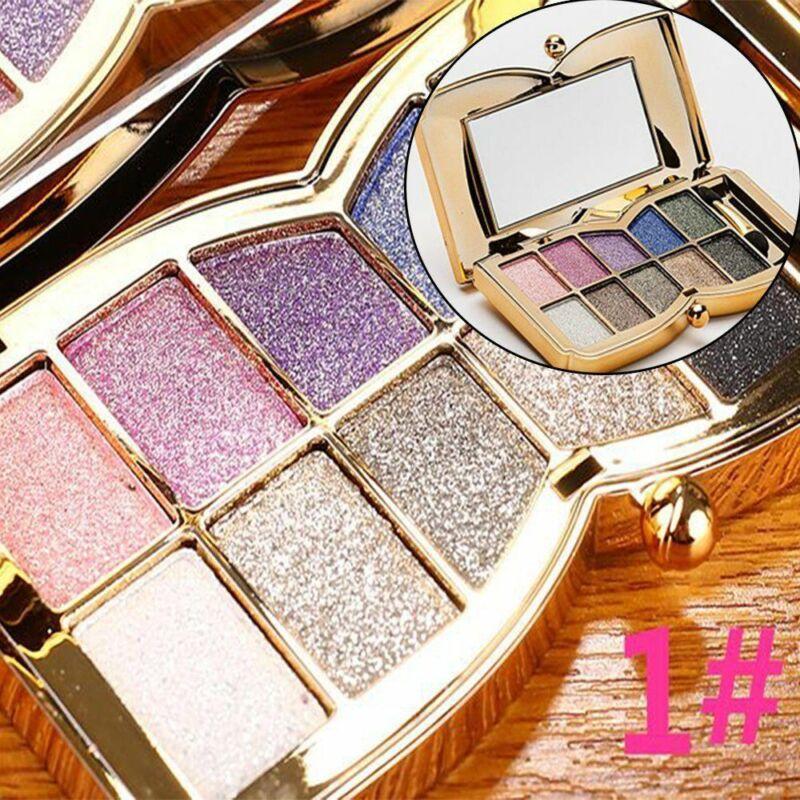 10 ظلال الألوان Pallete وميض بريق الجمال المزجج الماس ظلال العيون مسحوق عاري الجمال يشكلون مجموعة مستحضرات التجميل أدوات الساخن